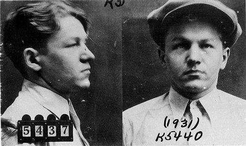 "Public Enemy: Lester Gillis a.k.a. George ""Baby Face"" Nelson mugshot"