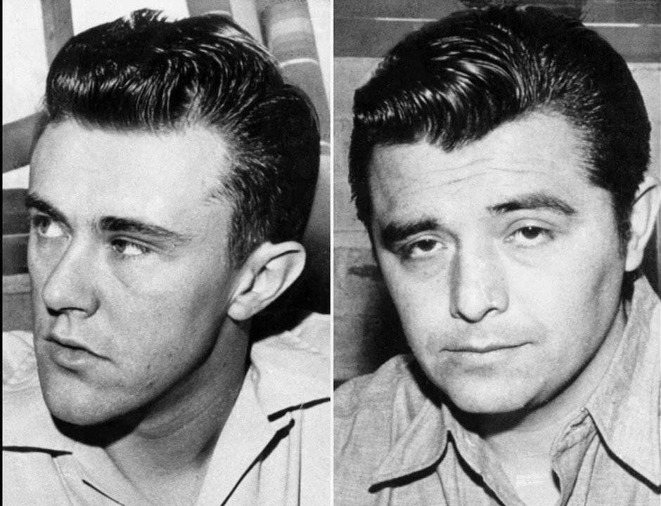 Photo of Richard Eugene Hickock (L) and Perry Edward Smith (R) (In Colder Blood)