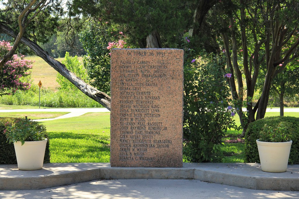 Memorial to the victims of the Luby's massacre in Killeen, Texas.
