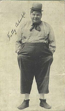 Autographed photo of Fatty Arbuckle in 1919