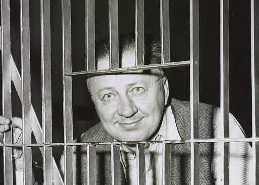 George Metesky, the Mad Bomber, behind bars