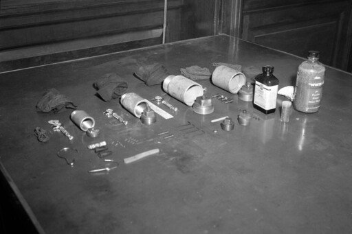 """Police said the Mad Bomber used these components to make his """"units"""""""