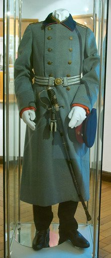 Uniform worn by Wilhelm Voigt as the Captain of Köpenick