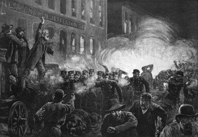 Ten Bombings - Engravings of the Haymarket bombing
