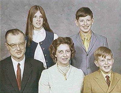 The John List family in 1971. (L. to R.) John (46), Patricia (16), Helen (46), John Jr. (15), and Frederick (13)