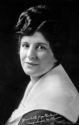"""Autographed photo of Sister Aimee signed """"Yours In The King's Service, Aimee Semple McPherson"""