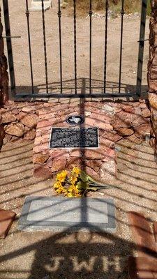 John Wesley Hardin's grave in Concordia Cemetery, El Paso, Texas.