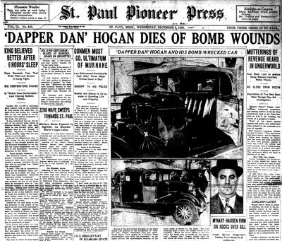 A St. Paul newspaper reports Dan Hogan's death