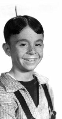 """Carl Switzer as """"Alfalfa"""""""
