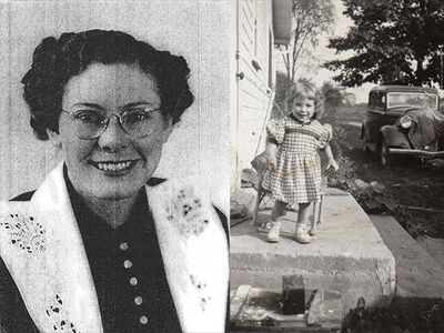 Victim Deliphine Downing and her daughter, Rainelle