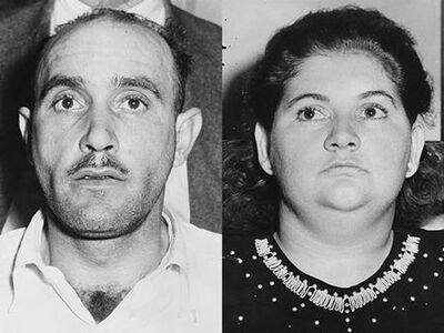 The Lonely Hearts Killers, Raymond Fernandez (L) and Martha Beck (R)