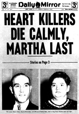 The New York Daily Mirror announces the execution of the Lonely Hearts Killers