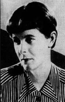 Newspaper photograph of Nancy Titterton