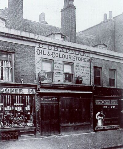 The shop in Deptford, South London, where the Farrow murders occurred