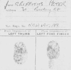 Griffiths' fingerprint card proved his guilt in the June Devaney murder