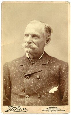 A studio portrait of Charles E. Bolton in his later years
