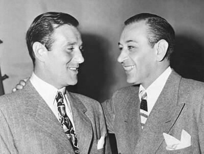"Benjamin ""Bugsy"" Siege (L) with actor George Raft (R)"