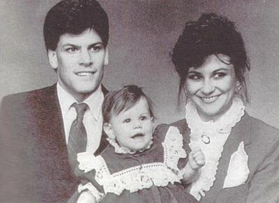 Mark Putnam and his wife, Kathy and daughter Danielle in 1987
