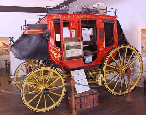A Wells Fargo stagecoach