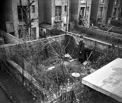 The back garden at 10 Rillington Place where Christie buried his first two victims