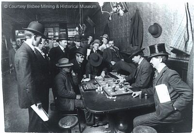 Gambling at the Oriental Saloon about the time Frank Leslie would have been a bartender