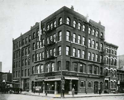 The Brach Company building at LaSalle and Illinois in Chicago