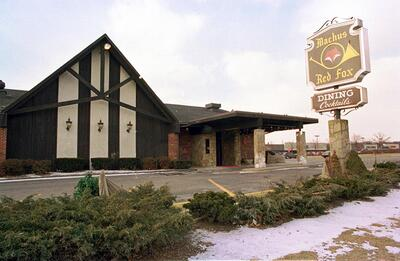 The Machus Red Fox restaurant in Bloomfield Township, Michigan. Today another restaurant occupies the building.
