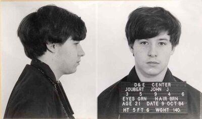 John Jourbet mugshot after his 1984 arrest.