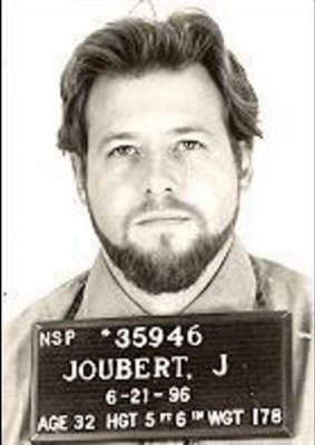 John Jourbet prison photo taken shortly before his execution in 1996