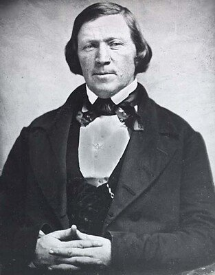 Brigham Young. Historians continue to debate his role in the Mountain Meadows Massacre.